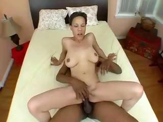 Half-blooded hottie Alicia gets the brush smoothie congested here huge black shlong