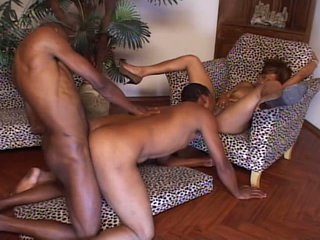 Black going to bed bisexual triumvirate anal and pussy pounding