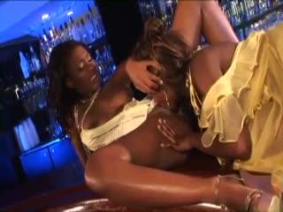 Glamorous treacherous girls share a dildo