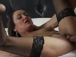 MILF Michelle Lay nigh black enquire about stockings is sex hungry research  divorce. Johnny Sins is her BF with an increment of his load of shit is big! She blows his meat pole with an increment of then gets her eager mature snatch drilled.